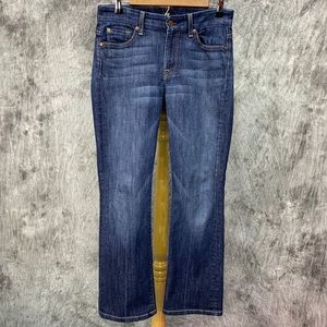 7 for All Mankind Kimmie Bootcut Jeans Sz 28